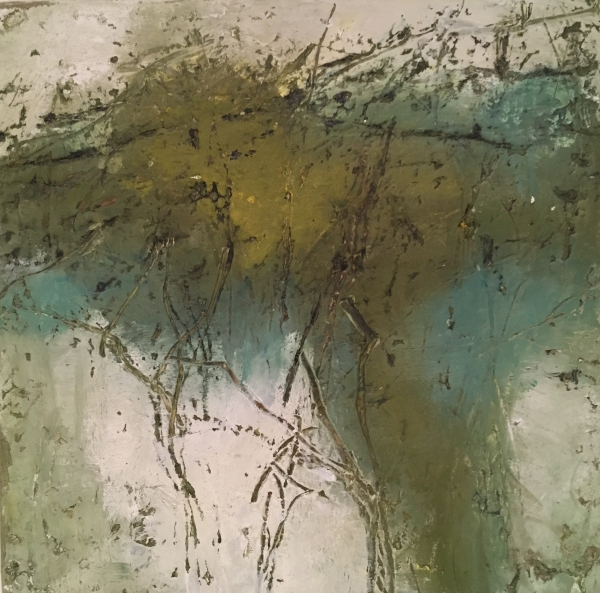 """mixed media painting """"A Sip Of Falling Water"""""""