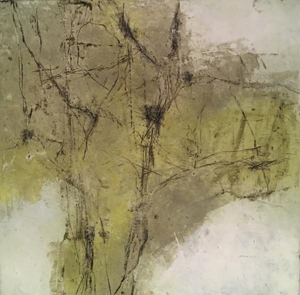 """mixed media painting """"Lichen Graffiti"""""""