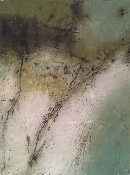 """mixed media painting """"Sky Path"""""""