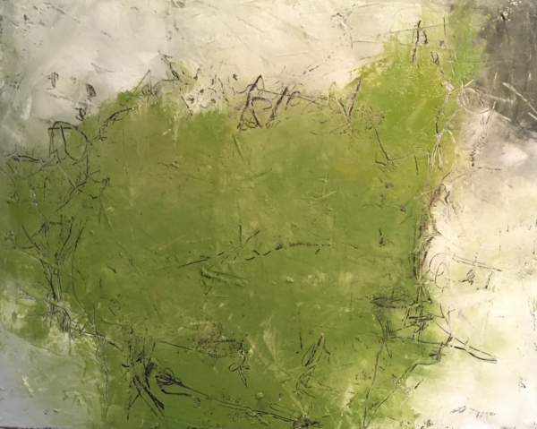 Abstract painting called afternoon in the meadow, by Carole Leslie